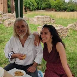 Archeofest 2021 Giugno stand Drago con Giuseppe Pulitani